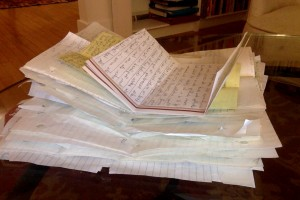 piles of notes from one friend in high school