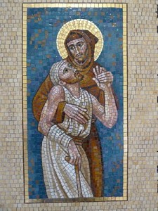 St. Francis and the leper