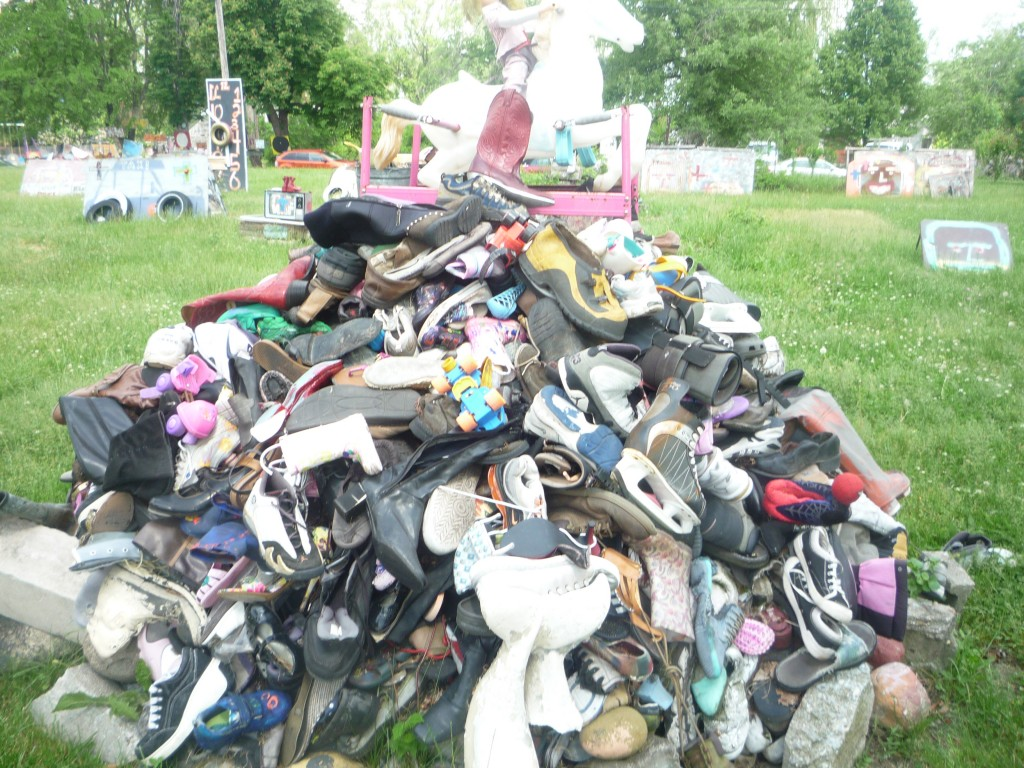 The Heidelberg Project: pile of shoes