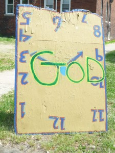 God clock at the Heidelberg Project