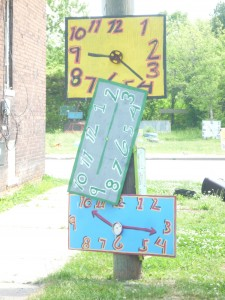3 clocks at the Heidelberg Project