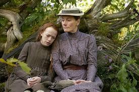Anne puts her head on Marilla's shoulder